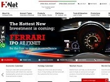 FxNet Broker Homepage