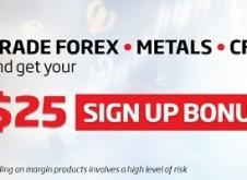 IronFX: $25 No Deposit Bonus