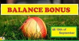 Balance bonus